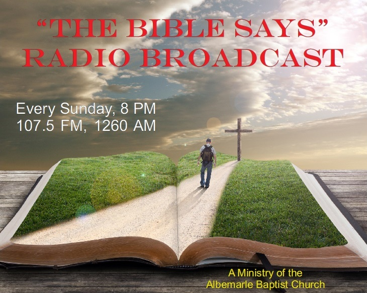 Radio Broadcast Every Sunday 8 PM 107.5 FM, 1260 AM